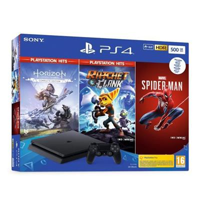 SONY CONSOLE PS4 SLIM 500G+SPIDER+HZN+RC