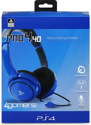 CASQUE PS4 4GAMERS PRO4-40 BLUE