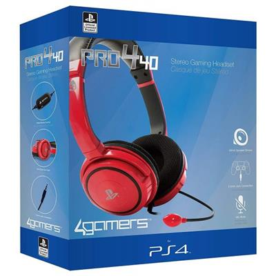CASQUE PS4 4GAMERS PRO4-40 ROUGE