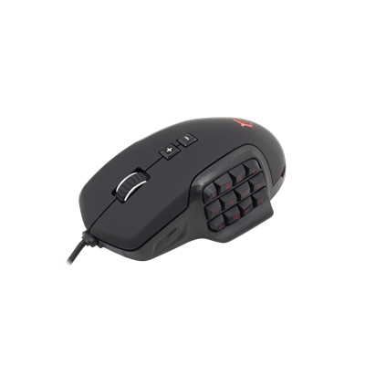 SOURIS WHITE SHARK GM-1802 ALEXANDER NOIR