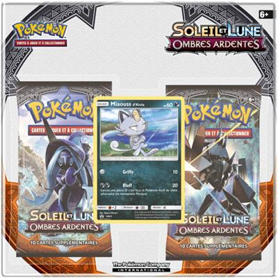 "Pack 2 boosters Pokémon Soleil & Lune 3 ""Ombres Ar"