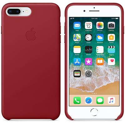 COQUE EN CUIR iPHONE 7 PLUS/8 PLUS ROUGE