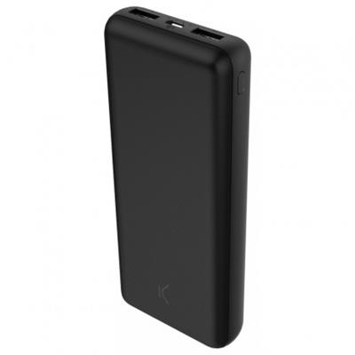 POWER BANK KSIX 20000mAh NOIR+CABLE MICRO USB